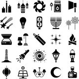 Light icons. This is a collection of icons related with light Royalty Free Stock Photo