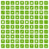 100 light icons set grunge green. 100 light icons set in grunge style green color isolated on white background vector illustration royalty free illustration
