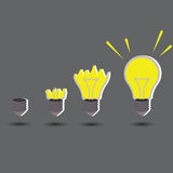 Light idea concept with create idea. On gray background Royalty Free Stock Photography