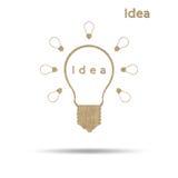 Light idea symbol Stock Photography