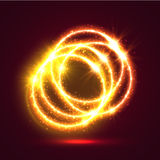 Light illuminated fire rings background Royalty Free Stock Photos