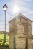 The light that illuminates the faith in the small chapel Stock Image