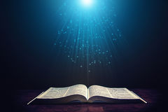 Light illuminating the Bible Stock Photography