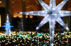 Light of the illumination decorated the night park stock photos