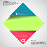 Light illustration inforgraphic with rhombus divided to three parts Stock Images