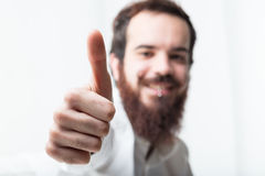 Light image of thumbs up Royalty Free Stock Photos
