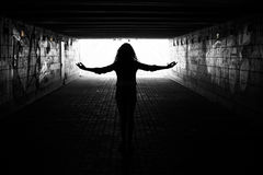 Free Light In The End Of Tunnel Stock Photos - 42817983