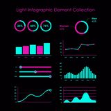 Light info graphic element collection royalty free illustration