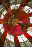 Light Inside First Order Fresnel Lighthouse Lens Stock Image
