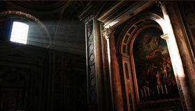 The Light:Inside the St. Peter's Basilica Stock Photography