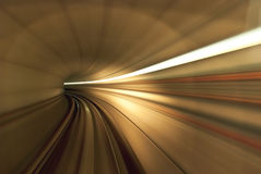Light from inside the tunnel. Tunnel from inside of fast train in Malaysia Royalty Free Stock Images