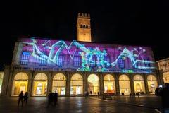 Light installation at Palazzo Re Enzo, Bologna Royalty Free Stock Photos