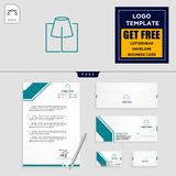 Light interior logo template and stationery design include vector illustration