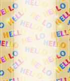 Light Invitation Card or Banner on Colorful Backdrop Stock Photo
