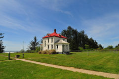 Light keepers house Royalty Free Stock Image