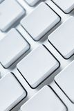 Light keyboard with blank keys, copyspace Stock Photos
