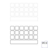 Light keyboard for smartphone, empty buttons Royalty Free Stock Photo
