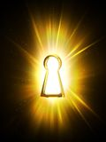 Light from the keyhole stock illustration