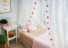 Light kids bedroom Royalty Free Stock Photo