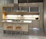 Light kitchen angle Royalty Free Stock Photography
