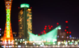 The Light of Kobe Harbor Tower blurred Royalty Free Stock Image