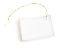 Light label with gold thread. Stock Image