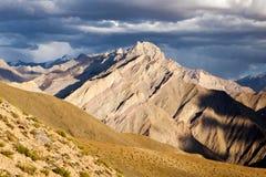 Light of Ladakh. Mountains along Zanskar Trek in evening light, Ladakh, Jammu and Kashmir, India Stock Photo