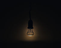 Light lamp in a dark room Royalty Free Stock Photo