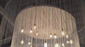Light lamp decoration. On top stock footage