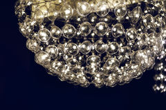 Light lamp  with glass spherical design elements of modern chandelier Royalty Free Stock Photography