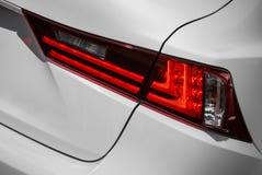 Light lamp of modern new white car Royalty Free Stock Photo