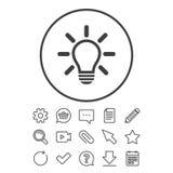 Light lamp sign icon. Idea symbol. Royalty Free Stock Photo