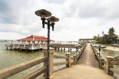 Light lamps on a bridge in Hua Thanon Royalty Free Stock Photos