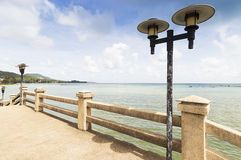 Light lamps on a bridge in Hua Thanon Stock Photography