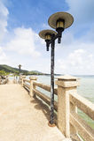 Light lamps on a bridge in Hua Thanon Royalty Free Stock Images
