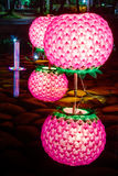 Light lanter. Buddhism light lanter with water reflextion Royalty Free Stock Photo