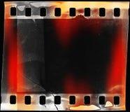 Light leak. Grunge film strip background with light leak Stock Photos