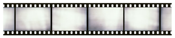 Light-leaked film strip royalty free stock photos