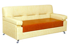 Light leather sofa modern design Stock Images