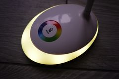 Light with the LED and RGB light. Light switching, stock photos