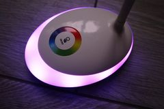Light with the LED and RGB light. Light switching, royalty free stock photos