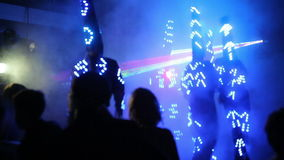 Light LED Show at The Laser Show stock video footage