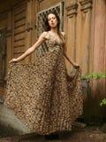 Light leopard dress Stock Photo