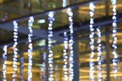 Light line blurred bokeh background, Night lights decorated restaurant, Light for decoration department store in merry Christmas a royalty free stock photography