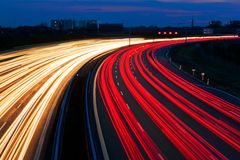 Light line of Highway Stock Photo