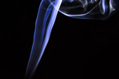 Light lines. Light abstract forms made with smoke and a lantern Royalty Free Stock Photos