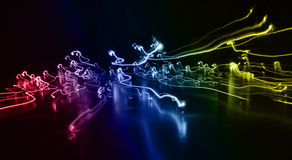 Light lines. Background with shining line, light line Stock Photography