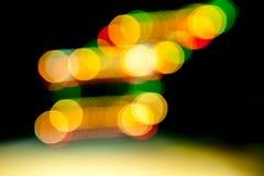 Light lines in the dark Stock Image
