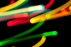 Light lines in the dark Royalty Free Stock Photos