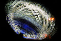 Light lines at night Royalty Free Stock Images